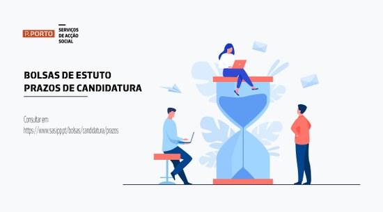 BOLSAS DE ESTUDO – PRAZOS DE CANDIDATURA