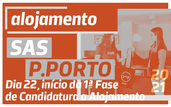 Candidaturas às residências dos SAS do P.PORTO, 2020/2021