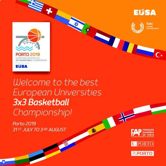 SAS do P.PORTO acolhem atletas do European University Basketball Championship 3x3