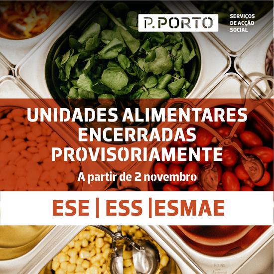 UNIDADES ALIMENTARES ENCERRADAS PROVISÓRIAMENTE